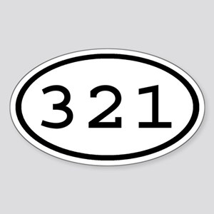 321 Oval Oval Sticker