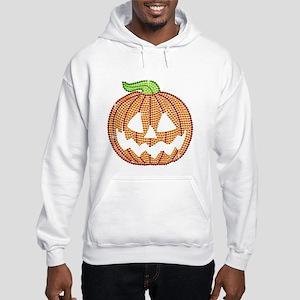 Printed Rhinestone Jackolantern Pumpkin Sweatshirt