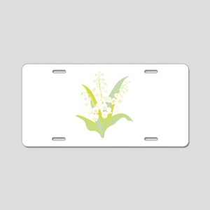 Lily Of The Valley Aluminum License Plate