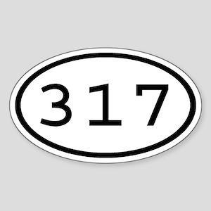 317 Oval Oval Sticker