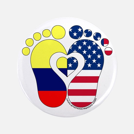 """Colombian American Baby 3.5"""" Button"""