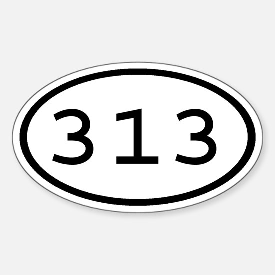 313 Oval Oval Decal