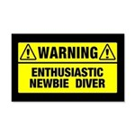 Warning: Newbie Diver 20x12 Wall Decal