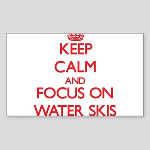 Keep Calm and focus on Water Skis Sticker