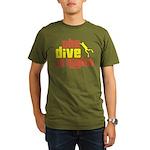 The Dive Is Right Organic Men's T-Shirt (dark)