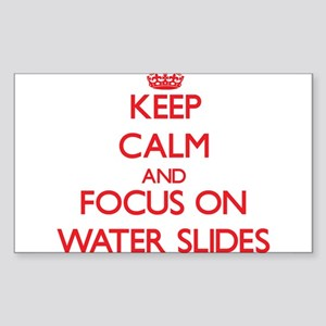 Keep Calm and focus on Water Slides Sticker