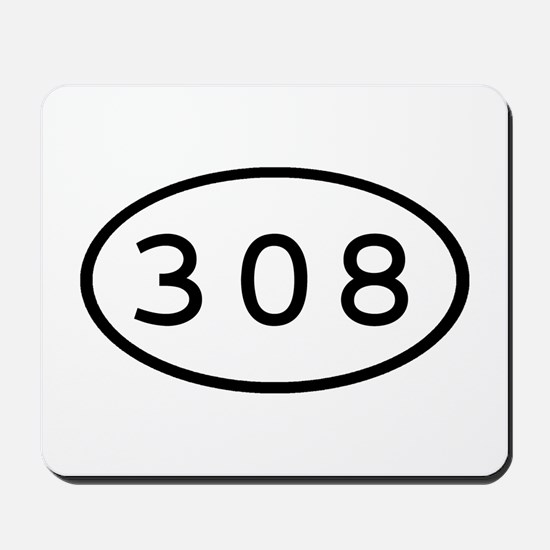 308 Oval Mousepad