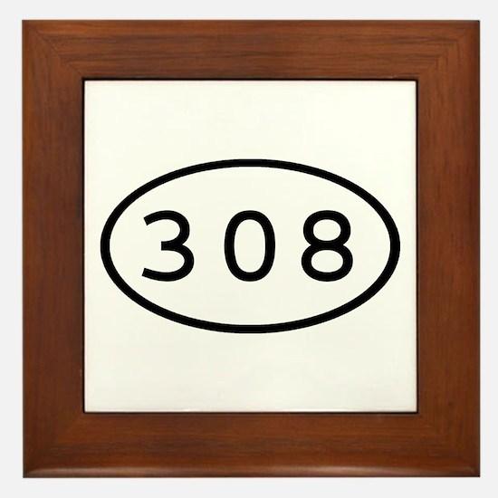 308 Oval Framed Tile