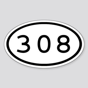 308 Oval Oval Sticker