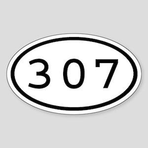 307 Oval Oval Sticker