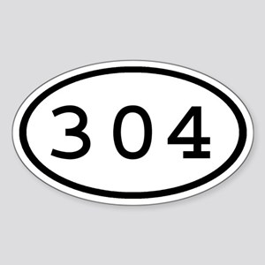 304 Oval Oval Sticker