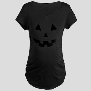 Pumpkin Face Halloween Maternity T-Shirt