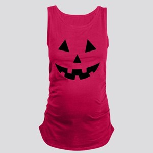 Pumpkin Face Halloween Maternity Tank Top
