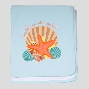 Seashells On The Seashore baby blanket
