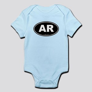 Arkansas AR Euro Oval Infant Bodysuit