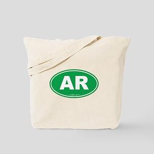 Arkansas AR Euro Oval Tote Bag