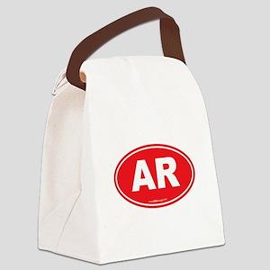Arkansas AR Euro Oval Canvas Lunch Bag