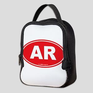 Arkansas AR Euro Oval Neoprene Lunch Bag