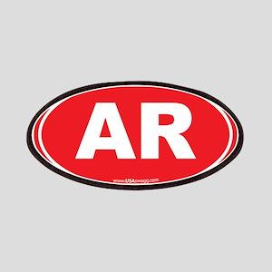 Arkansas AR Euro Oval Patches