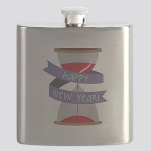 New Year Hourglass Flask
