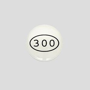 300 Oval Mini Button