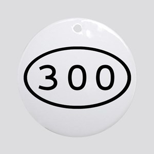 300 Oval Ornament (Round)