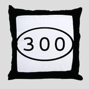300 Oval Throw Pillow