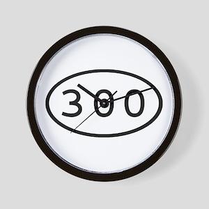 300 Oval Wall Clock