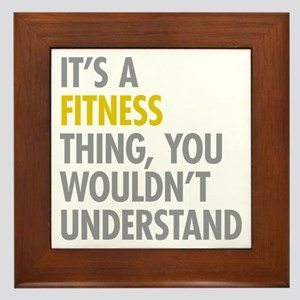Its A Fitness Thing Framed Tile