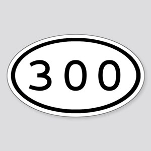 300 Oval Oval Sticker