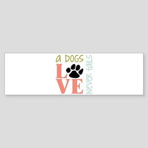 A Dogs Love Bumper Sticker