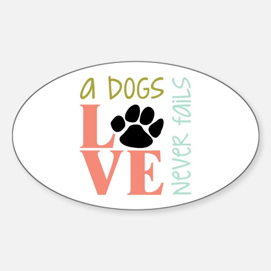 A Dogs Love Decal