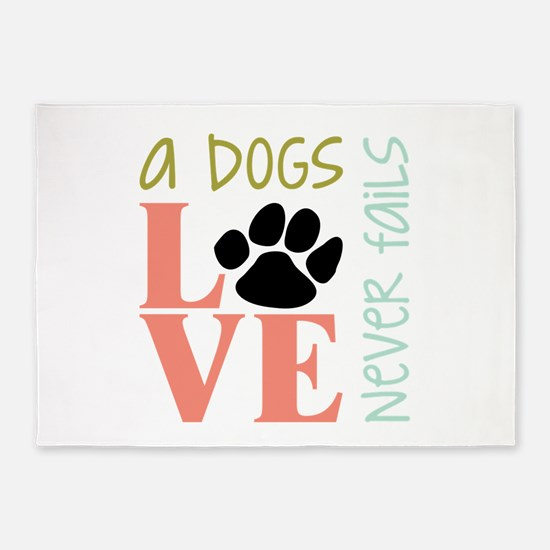 A Dogs Love 5'x7'Area Rug