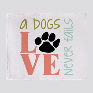 A Dogs Love Throw Blanket