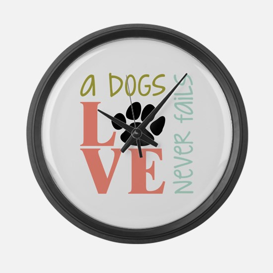 A Dogs Love Large Wall Clock