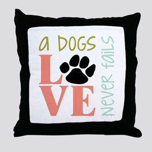 A Dogs Love Throw Pillow