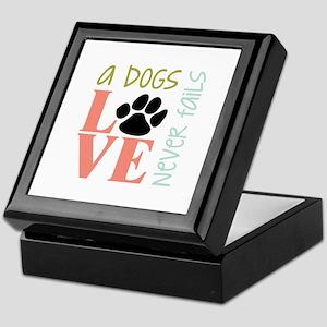 A Dogs Love Keepsake Box