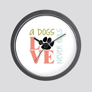 A Dogs Love Wall Clock
