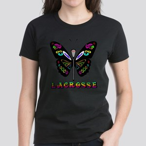 Lacrosse Butterfly Women's Dark T-Shirt