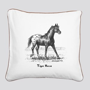 Tiger Horse Square Canvas Pillow