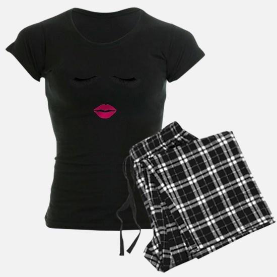 Lipstick and Eyelashes Pajamas