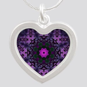 vintage bohemian purple abstract pattern Necklaces