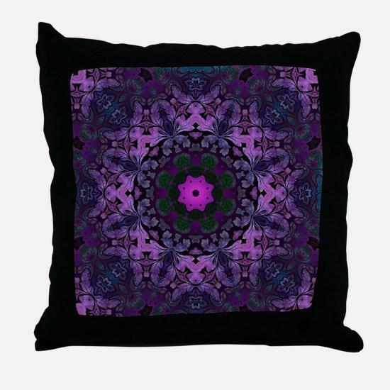 Unique Purple Throw Pillow