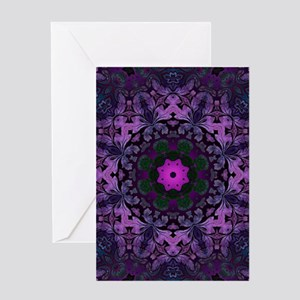 vintage bohemian purple abstract pattern Greeting