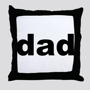 Father's Day Dad Title Throw Pillow