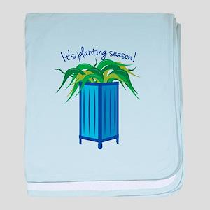 Its Planting Season baby blanket