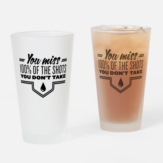 Hockey Quote Drinking Glass