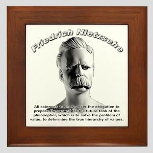 Friedrich Nietzsche 07 Framed Tile