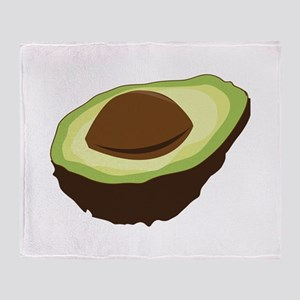 Avocado Half Throw Blanket