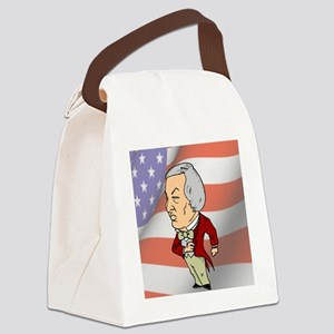 President Millard Fillmore with A Canvas Lunch Bag